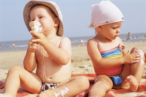 Detetova ishrana na plaži